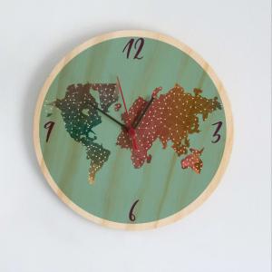 Reloj Mapamundi Acuarela