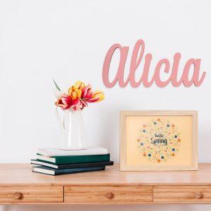 Nombre en madera Alicia