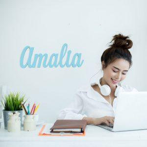 Nombre en madera Amalia