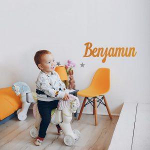Nombre en madera Benjamín