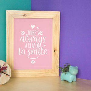Cuadro Frase Smile