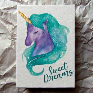 Cuadro Unicornio Sweet Dreams