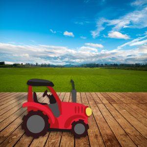 Granja Dummie Cartón Tractor