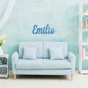 Nombre en madera Emilio