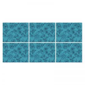 Individuales flores azules