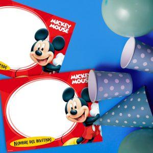 Mickey Individuales personalizados