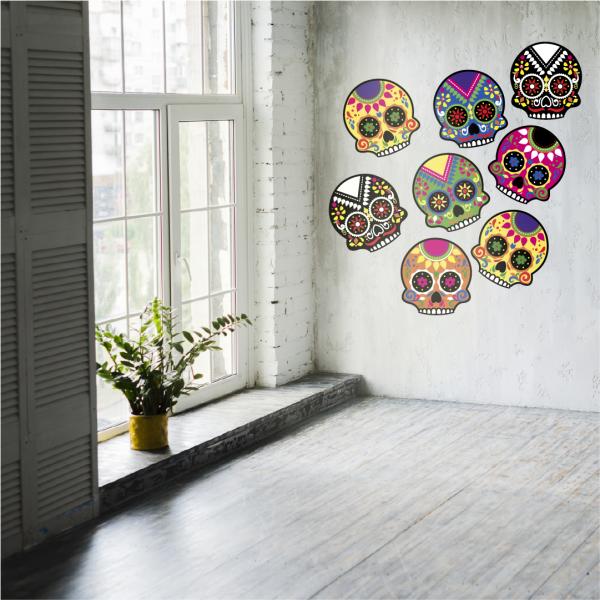 vinilo decorativo para paredes de calaveras