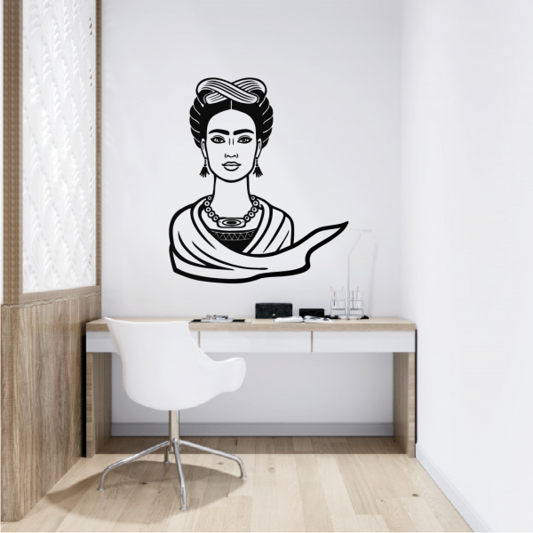 vinilo decorativo para pared frida kahlo