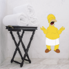 vinilo decorativo para pared homero simpson