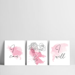 set x 3 cuadros frases i can i will