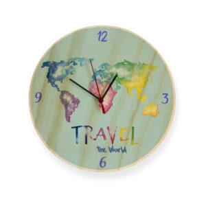 Reloj travel en acuarela